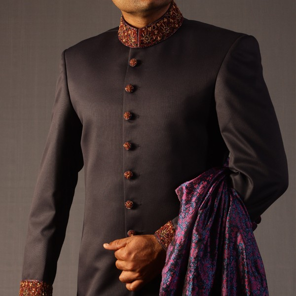 Wedding Dresses For Mens : See full collection sherwani designs for men wedding dress by junaid