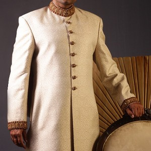 Cream Color Sherwani for Men 2 300x300 Sherwani Designs for Men Wedding Dress by Junaid Jamshed (JJ) sherwani designs new trends mens corner groom collection  Sherwani New Designs Sherwani Designs for Men Wedding Dress Sherwani by JJ Mens Eastern Wear Men Wedding Dress Junaid Jamshed JJ Groom SHerwani Design Groom Collection