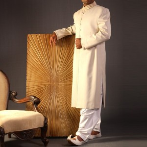 Creative Traditional Sherwani for Men in Beige by Junaid Jamshed 3 300x300 Sherwani Designs for Men Wedding Dress by Junaid Jamshed (JJ) sherwani designs new trends mens corner groom collection  Sherwani New Designs Sherwani Designs for Men Wedding Dress Sherwani by JJ Mens Eastern Wear Men Wedding Dress Junaid Jamshed JJ Groom SHerwani Design Groom Collection