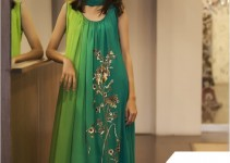 Green Chiffon and Silk Suit